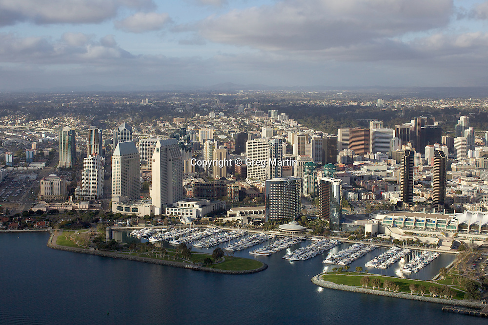 Aerial photograph of Downtown San Diego, California