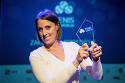 Andreja Klepac at Slovenian Tennis personality of the year 2016 annual awards presented by Slovene Tennis Association Tenis Slovenija, on December 7, 2016 in Siti Teater, Ljubljana, Slovenia. Photo by Vid Ponikvar / Sportida