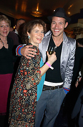 Actress CELIA IMRIE Singer WILL YOUNG at an after show party following the opening night of Acorn Antiques - The Musical at The Theatre Royal, Haymarket and held at The Cafe de Paris, Coventry Street, London on 10th February 2005.<br />