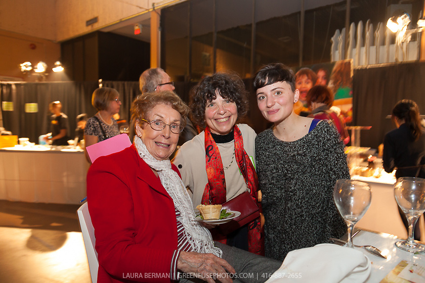 Executive Director Debbie Field with Biddy and Molly Kraft at FoodShare Toronto's Recipe for Change, February 28,  2013
