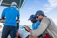 Marine rangers recieving cybertracker training, Vamizi Island, Mozambique