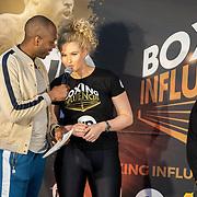 NLD/Rotterdam/20200224 - Stare down Boxing Influencers 2020, Steven Brunswijk en Fabiola Volkers