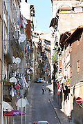 steep street up from the port porto portugal