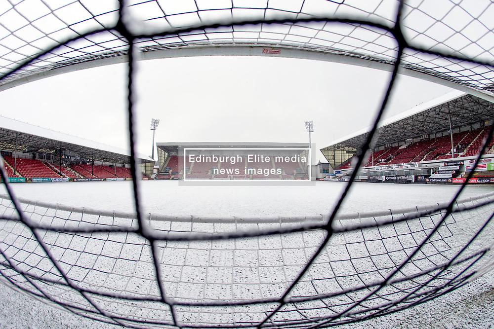 Snow Falls at East End Park, Dunfermline, 16/01/2018<br />Home of Dunfermline Athletic Football Club <br /><br />(c)Craig Brown| Edinburgh Elite media