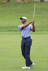 May 30, 2019 - Dublin, OH, U.S. - DUBLIN, OH - MAY 30: Tiger Woods hits an approach shot during the first round of The Memorial Tournament on May 30th 2019  at Muirfield Village Golf Club in Dublin, OH. (Photo by Ian Johnson/Icon Sportswire) (Credit Image: © Ian Johnson/Icon SMI via ZUMA Press)