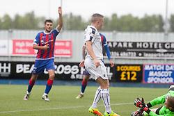 Falkirk's John Baird scoring their sixth goal. Falkirk 6 v 1 Elgin City, Irn-Bru Challenge Cup Third Round, played 3/9/2016 at The Falkirk Stadium .