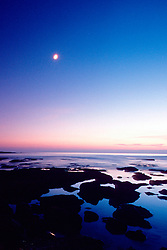 sunset at La Jolla coast, San Diego, California, East Pacific Ocean