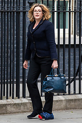 © Licensed to London News Pictures. 04/06/2018. London, UK. Secretary of State for International Development Penny Mordaunt on Downing Street. Photo credit: Rob Pinney/LNP