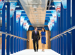 Conservative Party Conference, ICC, Birmingham, Great Britain <br /> 10th October 2012 <br />  Day 4<br /> <br /> Rt Hon David Cameron MP <br /> and Samantha Cameron <br /> walking to the Conference centre prior to his leaders' speech <br /> <br /> <br /> Photograph by Elliott Franks<br /> <br /> United Kingdom<br /> Tel 07802 537 220 <br /> elliott@elliottfranks.com<br /> <br /> ©2012 Elliott Franks<br /> Agency space rates apply