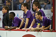 Nick Stavrou (23) of the Dallas Sidekicks looks on from the bench against the Rockford Rampage at the Allen Event Center on Saturday, February 9, 2013 in Little Elm, Texas. (Cooper Neill/The Dallas Morning News)