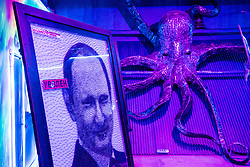 July 13, 2018 - Moscow, Russia - 180713 A picture of Russia President Vladimir Putin beside a octopus inside the museum Muzey Vosstaniya Mashin during the FIFA World Cup on July 13, 2018 in Moscow..Photo: Petter Arvidson / BILDBYRN / kod PA / 92086 (Credit Image: © Petter Arvidson/Bildbyran via ZUMA Press)