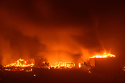 The Glass Fire burns in the Skyhawk Community in Santa Rosa, California on the night of September 27-28, 2020