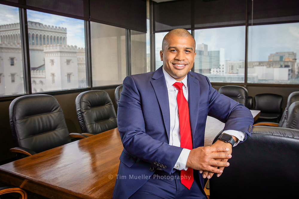Jermaine Guillory, section chief for the 19th Judicial District Attorney's Office, works out of the DA office in City Hall.