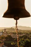 Bell in tower of La Merced Church in Granada, Nicaragua
