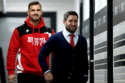 Bristol City head coach Lee Johnson and Bailey Wright of Bristol City arrive at The iPro stadium ahead of the Sky Bet Championship fixture with Derby County - Mandatory by-line: Robbie Stephenson/JMP - 11/02/2017 - FOOTBALL - iPro Stadium - Derby, England - Derby County v Bristol City - Sky Bet Championship