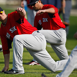 February 18, 2011; Fort Myers, FL, USA; Boston Red Sox starting pitcher Jon Lester during spring training at the Player Development Complex.  Mandatory Credit: Derick E. Hingle