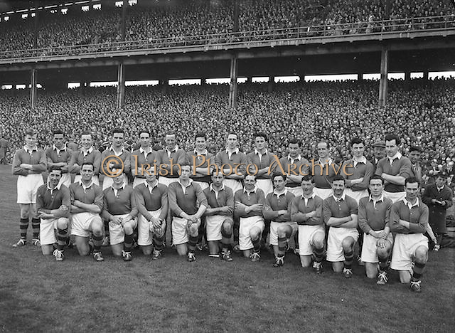 All Ireland Gaelic Football Final Senior teams Kerry v Meath in Croke park on 26th September 1954.