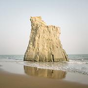 A coastal cliff area called Buji Koh, in Hingol National Park. Baluchistan. Arabian Sea.
