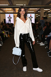 Georgia Fower attends 'Streets of EQT', a street style presentation to celebrate Hailey Baldwin's new Adidas EQT campaign during London Fashion Week SS18 held at The Old Truman Brewery, London. Picture Date: Friday 15 September. Photo credit should read: Isabel Infantes/PA Wire