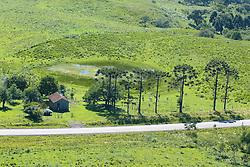 Vista aérea de uma casinha na serra gaúcha. FOTO: Jefferson Bernardes/Preview.com
