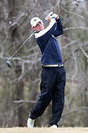 WILMINGTON, NC - MARCH 19: Kent State's Ian Holt tees off on the Marsh Course third hole. The first round of the 2017 Seahawk Intercollegiate Men's Golf Tournament was held on March 19, 2017, at the Country Club of Landover Nicklaus Course in Wilmington, NC.