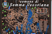 Local map of Somma Vesuviana, a town situated on the slopes of the dormant Vesuvius volcano, last active in 1945.