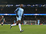 Kelechi Iheanacho of Manchester City turns to celebrate scoring the first goal during the Champions League Group C match at the Etihad Stadium, Manchester. Picture date: December 6th, 2016. Pic Simon Bellis/Sportimage