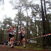 Sylvestercross 2004 Soest, Jeroen van Erp (16) en Michel Butter (26)
