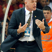 Fenerbahce Ulker's coach Neven SPAHIJA during their Turkish Basketball league Play Off Final fourth leg match Galatasaray between Fenerbahce Ulker at the Abdi Ipekci Arena in Istanbul Turkey on Saturday 11 June 2011. Photo by TURKPIX