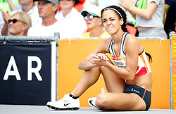 England's Katarina Johnson-Thompson waits to jump during the High Jump element of the Women's Heptathlon, at the Carrara Stadium during day eight of the 2018 Commonwealth Games in the Gold Coast, Australia.