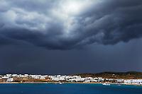 Grece, les Cyclades, ile de Koufonissi, port et village de Hora // Greece, Cyclades islands, Koufonissi island, Hora port and village