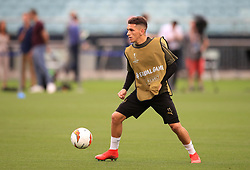 Arsenal's Lucas Torreira during the training session at The Olympic Stadium, Baku.