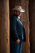 Portrait of Ammon Bundy, anti-government militia leader,  when he was the featured speaker at the New Code of the West Conference held at the Grouse Mountain Lodge in Whitefish, Montana, Saturday, October 13, 2018.