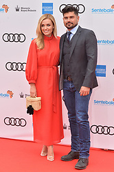 © Licensed to London News Pictures. 11/06/2019. London, UK. Katherine Jenkins and husband Andrew Levitas attend the Sentebale Audi Concert at Hampton Court Palace. Photo credit: Ray Tang/LNP