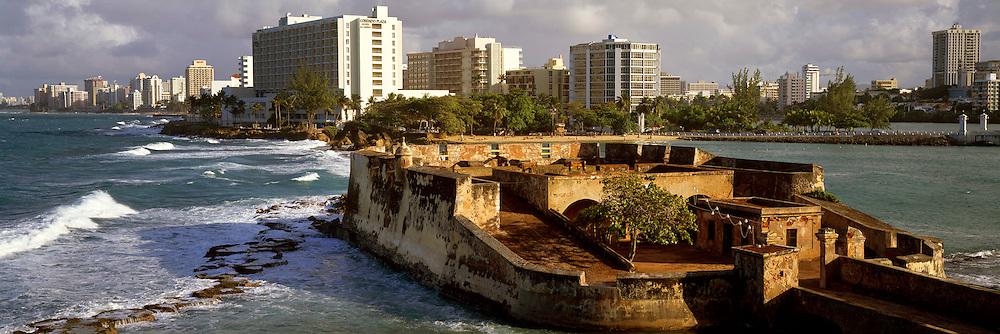 PUERTO RICO, SAN JUAN Condado Beach Hotels, Geronimo Fortress