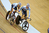 Men Madison, Robbie Ghys and Kenny De Ketele (Belgium) during the Track Cycling European Championships Glasgow 2018, at Sir Chris Hoy Velodrome, in Glasgow, Great Britain, Day 5, on August 6, 2018 - Photo luca Bettini / BettiniPhoto / ProSportsImages / DPPI<br /> - Restriction / Netherlands out, Belgium out, Spain out, Italy out -