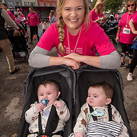 REPRO FREE<br /> Rebecca O'Brien with Luke and Liam Murphy from Kinsale pictured at the 2019 Kinsale Pink Ribbon Walk in aid of the Irish Cancer Society Action Breast Cancer.<br /> Picture. John Allen