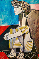 France, Paris (75), Musee Picasso, Jacqueline aux mains croisées, 1954 // France, Paris, Picasso museum, Jacqueline with crossed hands, 1954