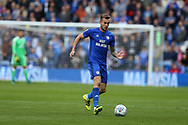 Joe Ralls of Cardiff city in action. EFL Skybet championship match, Cardiff city v Sheffield Wednesday at the Cardiff City Stadium in Cardiff, South Wales on Saturday 16th September 2017.<br /> pic by Andrew Orchard, Andrew Orchard sports photography.