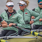 Sophie Deans , Cambridge Womens crew. (2nd from right)<br /> <br /> Crews prepare for Sunday's 165th Boat Race between Oxford and Cambridge, River Thames, London, Thursday 4th April 2019. © Copyright photo Steve McArthur / www.photosport.nz