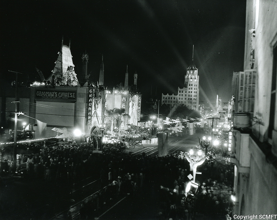 1930 Movie premiere of Hells Angels at Grauman's Chinese Theater