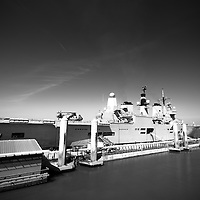 Ark Royal docked at the Cruise Liner Terminal.  It is only because of.this terminal that such ships can now dock in Liverpool.  Its great to.see them against the skyline.