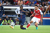 French midfielder Blaise Matuidi of Paris Saint Germain and French midfielder Francis Coquelin of Arsenal in action during the UEFA Champions League, Group A, football match between Paris Saint Germain and Arsenal FC on September 13, 2016 at Parc des Princes stadium in Paris, France - Photo Jean Marie Hervio / Regamedia / DPPI