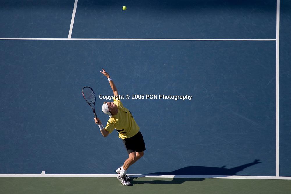 Lleyton Hewitt of Australia at the 2005 US Open Tennis, Flushing New York. September 10, 2005