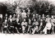 Chemical Section of the British Association for the Advancement of Science meeting at Oxford,  England, 1894.  Among those present were: (Long row standing)  William Henry Perkin (1838-1907) 2nd from left, Ludwig Mond (1839-1909) 4th from left, William Ramsay (1852-1916) 5th from right.  Photograph.
