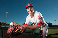 Pitcher Mike Morin jokes around during the Angels' Photo Day at Spring Training in Tempe, AZ on Tuesday, February 21, 2017. (Photo by Kevin Sullivan, Orange County Register/SCNG)
