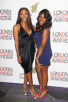 Alexandra Burke & Sheneice Burke, London Lifestyle Awards 2014, The Troxy, London UK, 08 October 2014, Photo By Brett D. Cove