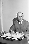 19/09/1963<br /> 09/19/1963<br /> 19 September 1963<br /> Mr. J.G. Crossan, at his desk at I.C.T. Adelaide Road, Dublin.