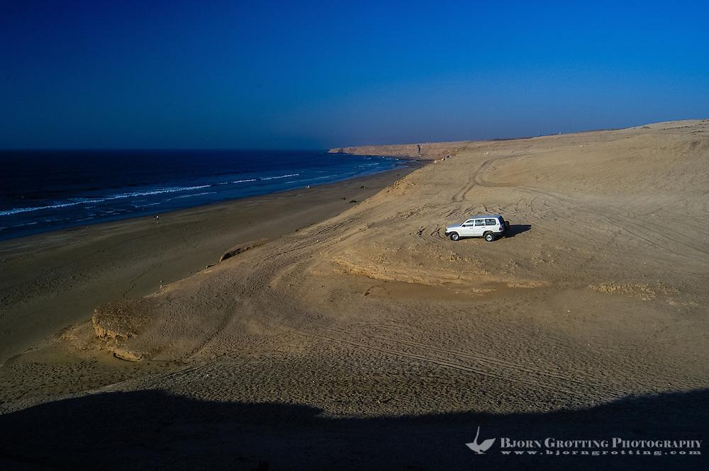 Coastline. The Souss-Massa National Park on the Atlantic coast of Morocco was established in 1991.