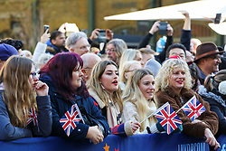 © Licensed to London News Pictures. 30/12/2019. London, UK. People cheer during the preview of the London New Year's Day Parade in Covent Garden Piazza.<br /> The London New Years Day Parade, in its 32nd year will take place on 1 January 2020 and will feature more than 10,000 performers from across the world. Photo credit: Dinendra Haria/LNP